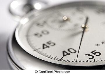 parada, primer plano, reloj