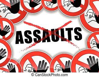 parada, problemas, assaults