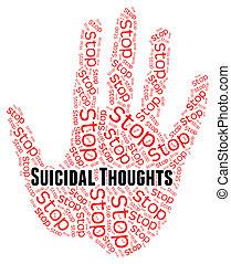 parada, suicida, pensamientos, indica, suicidio, crisis, y, creencias