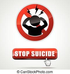 parada, suicidio, señal