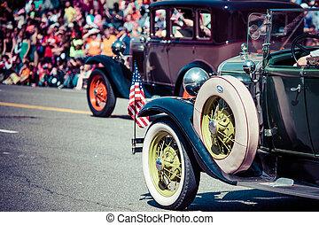 parade., coches, clásico