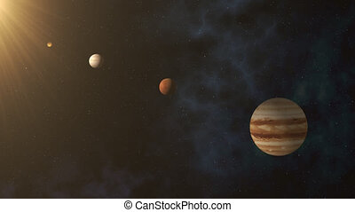 Parade Of Planets, Solar System