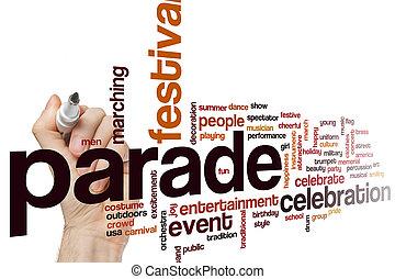 Parade word cloud