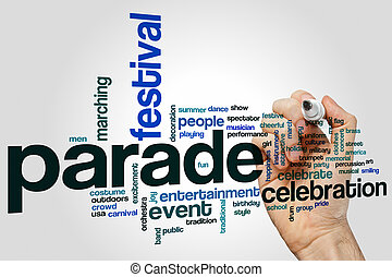 Parade word cloud concept