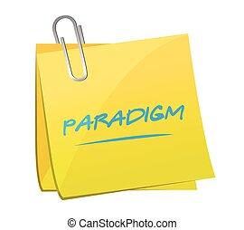 paradigm memo illustration design