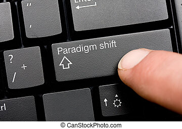 Paradigm shift concept on keyboard