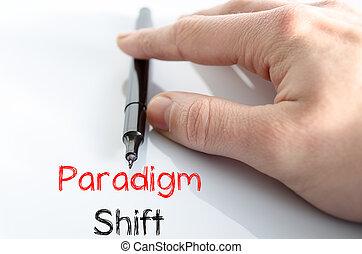 Paradigm shift text concept