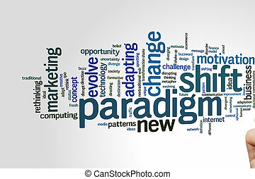 Paradigm shift word cloud