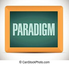 paradigm, sinal, ilustração, desenho