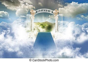 paradijs, in, hemel