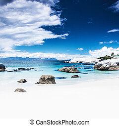 paradijs, strand, achtergrond