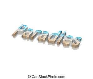 paradis, 単語, 3d