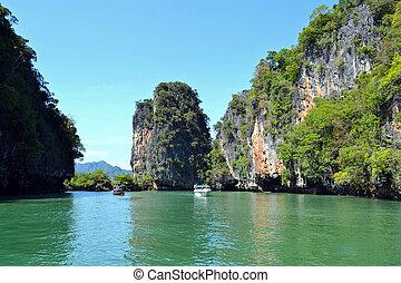 paradis tropical, lagune