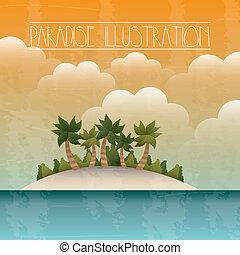 paradise background - paradise with island and sea...