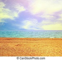 Paradise beach and sea