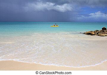 Paradise beach in Antigua island