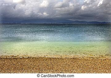 paradise beach landscape, nature and summer holidays