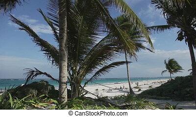 paradise beach, mexican caribbean coast