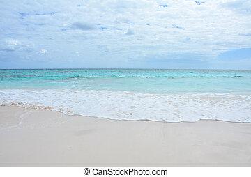 Paradise beach on Bahama island