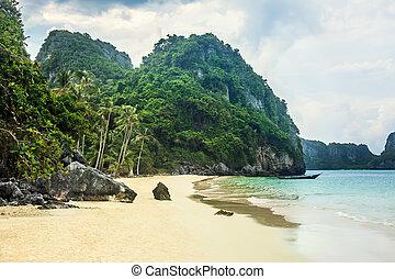 Paradise beach on tropical island