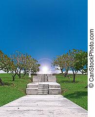 The shortcut to heaven through pass paradise garden