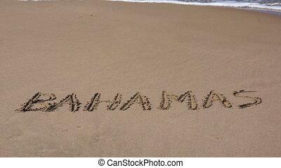 Paradise Vacation in the Bahamas - The word Bahamas written...