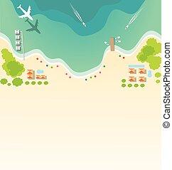 paradiso, spiaggia tropicale, fondo