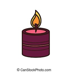 paraffin candle diwali fest ethnicity icon vector ...