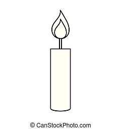 paraffin candle flame isolated icon vector illustration ...