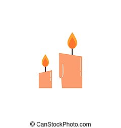 paraffin candle halloween isolated icon vector illustration ...