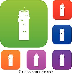 Paraffin candle set color collection - Paraffin candle set...