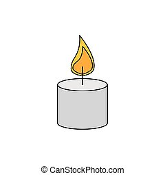 paraffin candle with flame icon vector illustration design