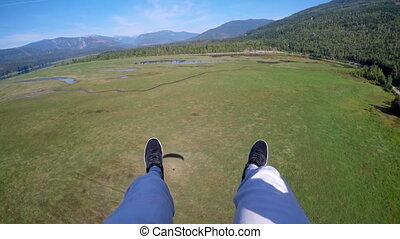 paraglider, 4k, парапланеризм, воздух