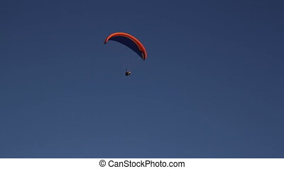 paraglider flying to sky - paraglider flying up to sky