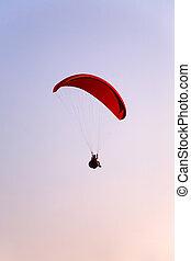 Paraglider landing