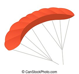 Paraglider vector cartoon illustration.