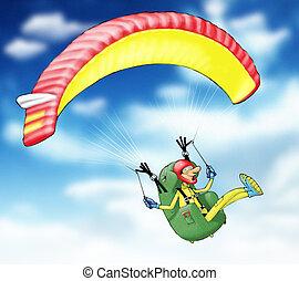 paragliding - Gleitschirmflieger