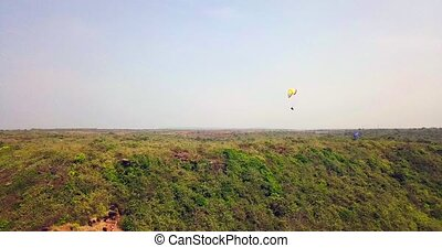 Paragliding in the tropics