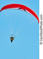 paragliding, moto
