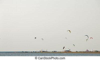 Paragliding on a sunny day