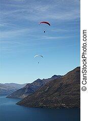 paragliding, queenstown