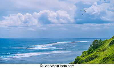 paragliding, volare, zone, colline, popolare, paraglider,...