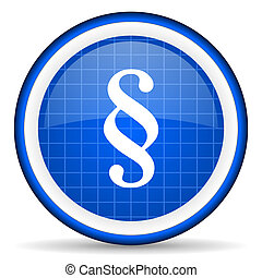 paragraph blue glossy icon on white background