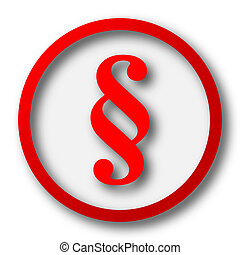 Paragraph icon. Internet button on white  background.