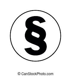 Paragraph icon, simple flat vector illustration design ...