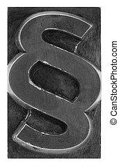 Paragraph metal printing block - Paragraph metal printing...