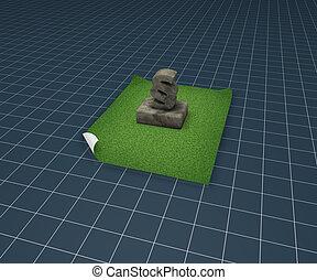 paragraph monument - 3d rendering