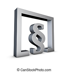 Paragraph - Rendering of a silver paragraph symbol on a...