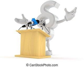 Paragraph symbol character gives a presentation