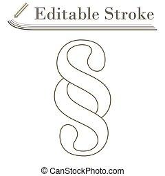 Paragraph Symbol Icon. Editable Stroke Simple Design. Vector...